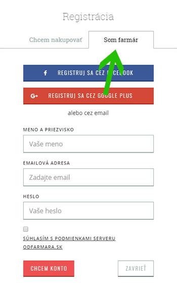 Registracia Slovenskych Farmarov