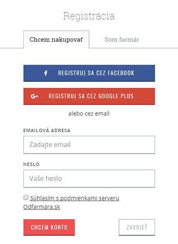 registracia facebook